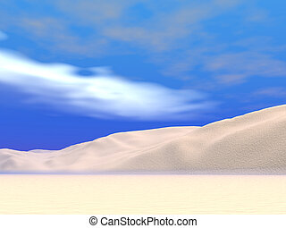 Blue Sky Desert - Desert dunes with a blue sky