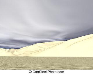 Desert Clouds - Desert sand dunes & clouds