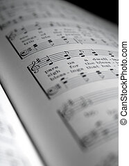 hymnal1 - closeup of hymnal musical page