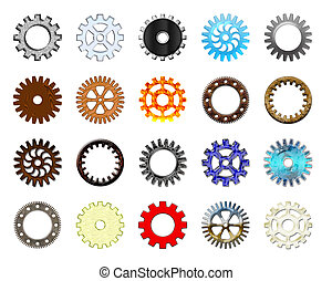 Gears collection 1 Isolated
