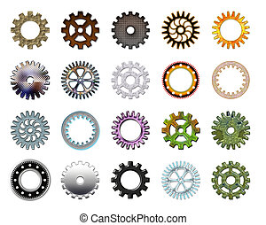 Gears collection 3 Isolated