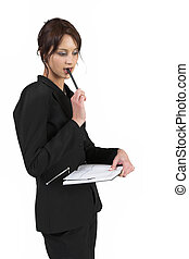 Luzaan Roodt #25 - Business woman in formal black suit...