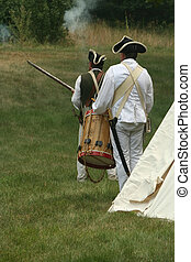 Off to Battle--Revolutionary War Reenactment