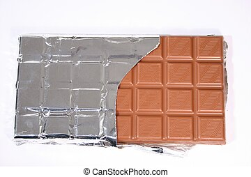 Chocolate bar - Isolated chocolate bar
