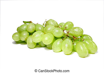 Grapes - Isolated bunch of green grapes