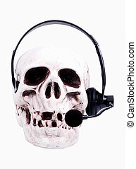 Customer Service - Skull With Headset.