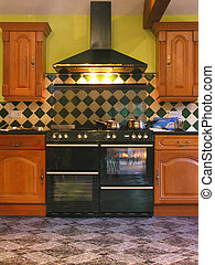 Kitchen Cooker - A double cooker in a posh kitchen