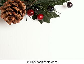 Christmas greenery 2 - Chrismas greenery along the top
