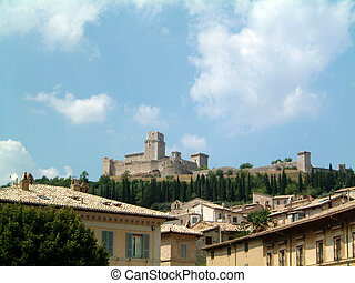 Old Castle at Assisi - Old castle at Assisi, Umbria