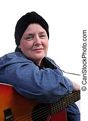 Guitarist In Recovery - A beautiful woman, bald from...