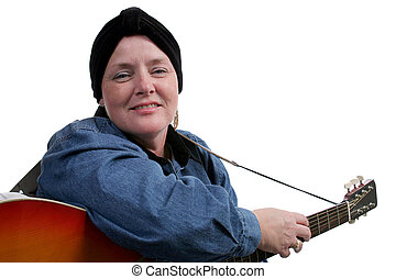 Life Goes On - A cancer patient suffering hair loss enjoys...