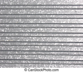 Metal sheet - Folded metal sheet with visible zinc...