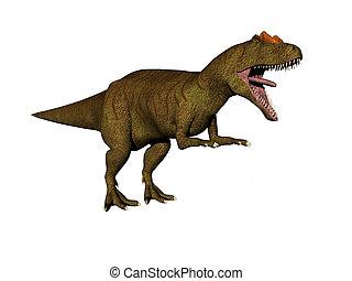 Dinosaur Allosaurus - Isolated Dinosaur Allosaurus