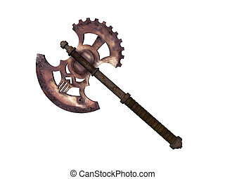 Battle Axe - Isolated fancy battle axe