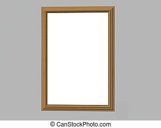 Wooden Frame - Isolated wooden frame