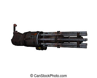 Chain Gun - Isolated gatling or chain gun