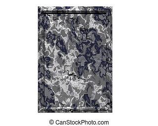 Granite Plaque - Isolated granite plaque