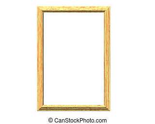 Pine Frame - Isolated pine frame
