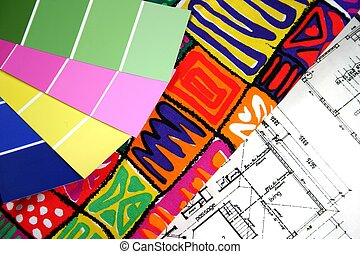Home Decorating - Home decorating samples of paint and...