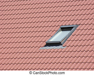 Roof window - Tile roof window Horizontal shot
