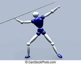 Javelin Thrower - 3d Athlete Javelin Thrower