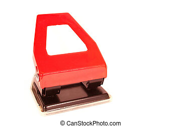 hole punch - big bright red hole punch