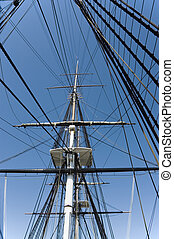 Masts and rigging 1 - Masts and rigging of a historic war...