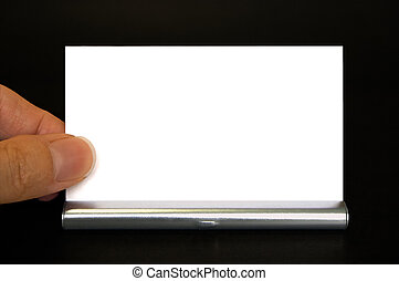 Here's My Card! - Close-up of a hand getting a business card...