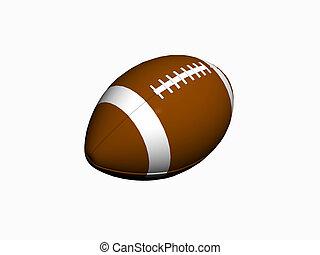 Football. - Digital 3D rendering, illustration of a Football...