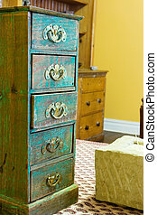 Table setting #4 - Miniature turquois chest of Drawers