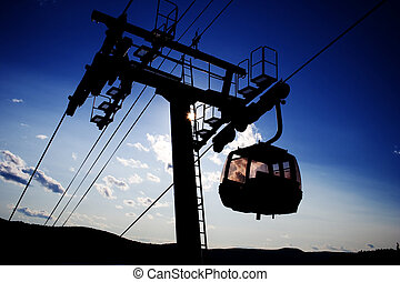 A ski lift at mount Tremblant