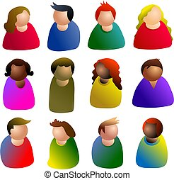 people icon - people diversity