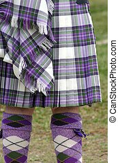 Colorful Scot Tartan - Colorful scottish tartan kilt and...