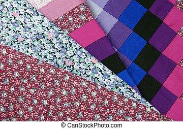 patchwork, tecidos