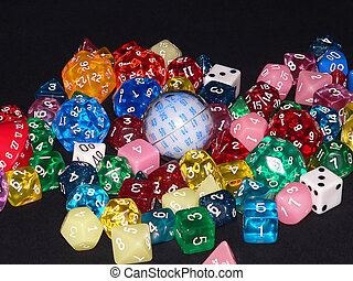 Dice 04 - Pile of various dice