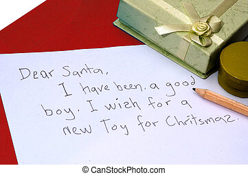 Dear Santa letter - A dear santa letter written by a child...