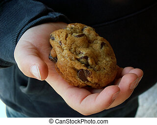 holding a cookie