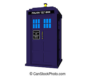 Police Box - Isolated police box