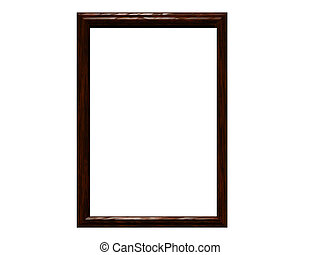 Walnut Frame - Blank & isolated walnut frame