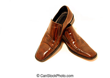 Brown Shoes - Isolated picture of a pair of Brown Shoes