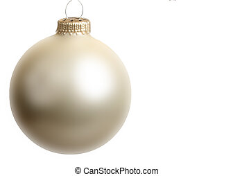 ballcham - single pearlescent champaign Christmas tree bulb...