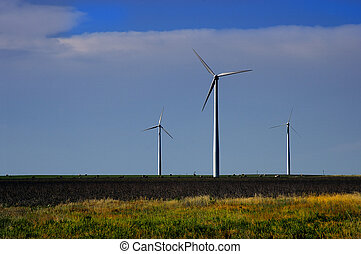 Wind Farm - Wind farm in wide open country