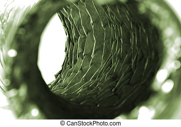 Isolated Dryer Vent Hose - Isolated Close Up on a Dryer Vent...