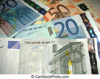 euros - notes of the euro currency