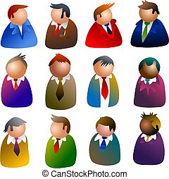 executive icons - people icons