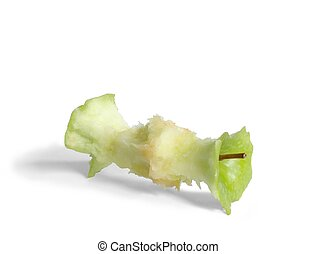 Apple Core - Isolated apple core