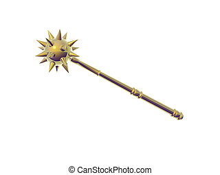 Golden Mace - Isolated golden mace