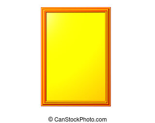 Yellow Plaque - Isolated yellow plaque