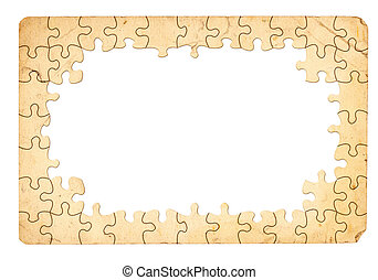 Puzzle Frame - Grungy Looking Puzzle Frame