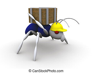 formiga, trabalhador